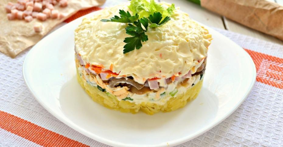 Рецепт салат ветчина ¤йца