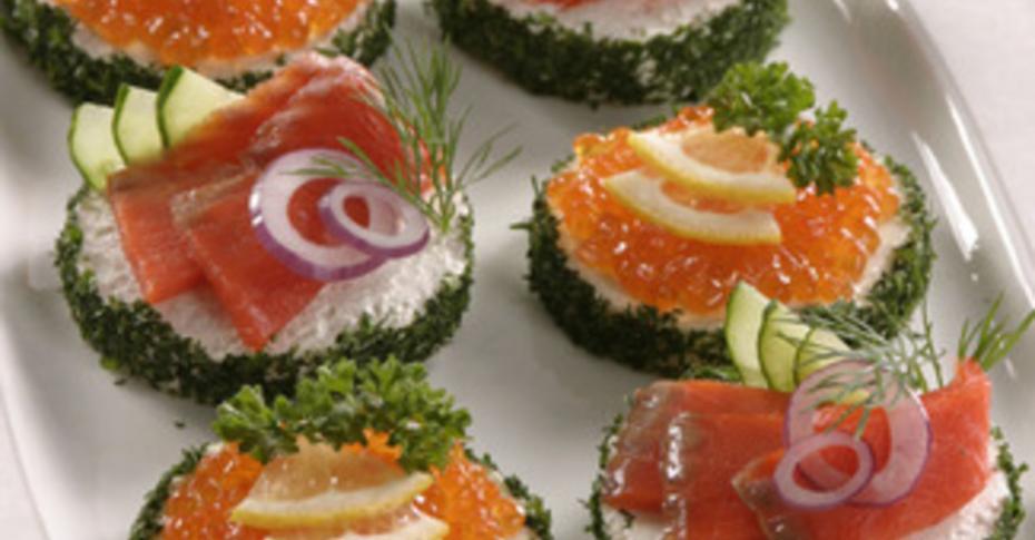 Бутерброды из филе красной рыбы #9